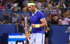 Rafael Nadal celebrates a point during his ATP Citi open match on 4 August 2021. Picture: @atptour/Twitter