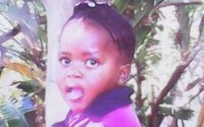 The body of five-year-old Madira Selota was discovered in the Phomolong Township on 5 September, 2014. Picture: Supplied.