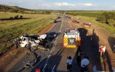 The scene of a crash which claimed the lives of three senior citizens. Picture: ER24.