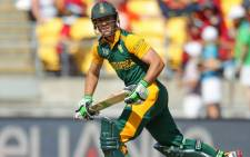 South Africa's AB de Villiers during the Cricket World Cup action against United Arab Emirates during their last match in Pool B on 12 March 2015. Picture: CWC.
