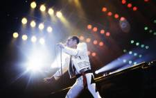 FILE: Rock star Freddie Mercury, lead singer of the rock group Queen, during a concert at the Palais Omnisports de Paris Bercy on 18 September 1984. Picture: AFP