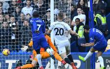 Pedro (far right) scores for Chelsea in their English Premier League match against Fulham at Stamford Bridge on 2 December 2018. Picture: @ChelseaFC/Twitter