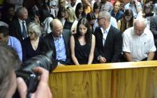 Oscar Pistorius' family in the Pretoria Magistrates court on 20 February 2013. Picture: Christa van der Walt/EWN.