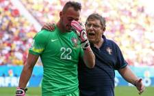 Portugal goalkeeper Beto was in tears after Portugal's group stage exit from the 2014 World Cup. Picture: Facebook.com