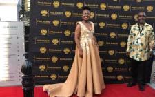 Public Protector Busisiwe Mkhwebane on the Sona 2019 red carpet. Picture: Bertram Malgas/EWN