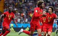 Belgium team members react after their Fifa World Cup victory over Japan on 2 July 2018. Picture: @FIFAWorldCup/Twitter