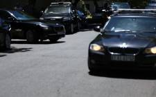 A screengrab of the presidential motorcade leaving Nelson Mandela's Houghton home on 18 November 2013. Picture: EWN>