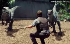Jurassic World breaks box office records in opening weekend. Picture :CNN screen grab