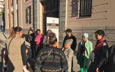 Albert Road (in Woodstock) residents in the Cape Town magistrates Court on 28 June 2017 to oppose an eviction order. Picture: Monique Mortlock/EWN