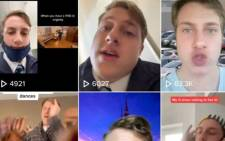 A screengrab of the TikTok page of South African Thomas Stavridis which shows thumbnails of his videos, or tiktoks, on the social media platform.