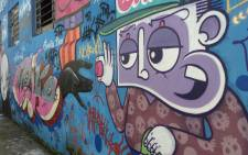 Street art in a walkway in Villa Madalena in Sao Paulo.  Picture: Christa Eybers/EWN.