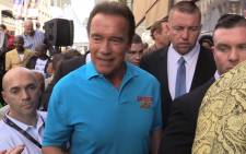 Arnold Schwarzenegger launches Arnold classic Africa 2016 at the Sandton convention centre.Picture Kgothatso Mogale/EWN