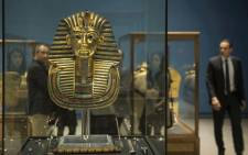 In this file photo taken on 28 November, 2017 the Golden Mask of King Tutankhamun is displayed at Cairo's Egyptian Museum. Picture: AFP