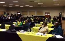 African National Congress (ANC) members at the party's National Executive Committee (NEC) meeting in Irene, Tshwane. Picture: ‏@MYANC.