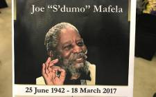 The funeral of late Joseph Dau Mafela at the University of Johannesburg Soweto campus. Picture: Kgothatso Mogale/EWN.