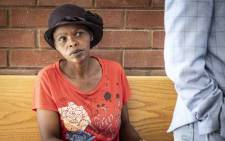 Agnes Moshoeu, the mother of slain 16-year-old Mathlomola Moshoeu, outside the North West High Court in Mahikeng on 30 January 2019 for the sentencing of Phillip Schutte and Pieter Doorewaard.  Picture: Abigail Javier/EWN