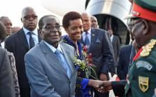 FILE: Zimbabwe President, Robert Mugabe and Mrs Grace Mugabe arriving at Waterkloof AirForce Base. Picture: GCIS.