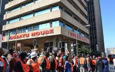 FILE: CWU members are gathering opposite Cosatu House in Braamfontein. Picture: EWN.