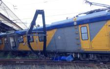 FILE: A train that derailed in Pinelands last night might be the cause of train delays today. Picture: Supplied.