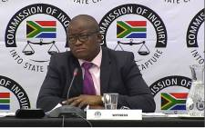 Former Treasury Director-General Lungisa Fuzile testifies at the state capture inquiry on 21 November 2018. Picture: Abigail Javier/EWN