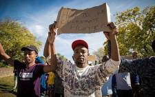 Protesting students. Picture: Thomas Holder/EWN.