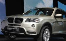 FILE:BMW X3 xDrive20d model displayed at the Paris Auto Show. Picture: AFP