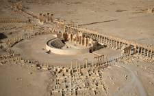 An aerial view taken on January 13, 2009 shows a part of the ancient city of Palmyra. Islamic State group jihadists seized Syrias Palmyra on Thursday, as UNESCO warned that the destruction of the ancient city would be an enormous loss to humanity. The capture of Palmyra, a 2,000-year-old metropolis, reportedly leaves more than half of Syria under IS control and comes days after the group also expanded its control in Iraq. Picture: AFP.
