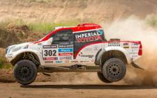 Toyota Hilux in the 2014 Dakar Rally.