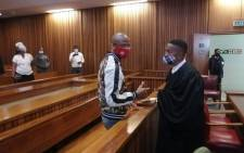 Convicted rapist Sello Abram Mapunya (left) in the North Gauteng High Court on 27 May 2021. Picture: @NPA_Prosecutes/Twitter