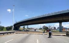 M2 bridge is officially closed for reconstruction from 28 February until October 2019. Picture: @CityofJoburgZA/Twitter.
