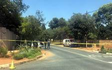 Police tape cordoned off the area of an attempted cash-in-transit heist on 6 March 2018. Picture: Christa Eybers/EWN.