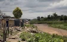 Setswetla in  Alexandra near Jukskei River. Picture Sethembiso Zulu/EWN.