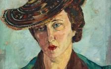 Irma Stern's Portrait of Freda Feldman with Basuto Hat. Picture: Strauss & Co.