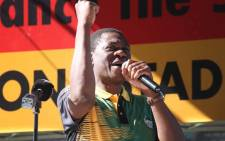 ANC treasurer-general Paul Mashatile addresses supporters at Athlone Stadium during Cosatu's May Day rally on 1 May 2019. Picture: Bertram Malgas/EWN