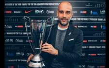 Manchester City's Pep Guardiola was named manager of the year by England's League Managers' Association on 24 May 2021. Picture: @ManCity/Twitter.