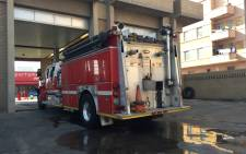 A fire truck at a Johannesburg fire station leaks litres of water, nearly half a tank an hour. Picture: Emily Corke/EWN