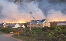 The blaze broke out on New Year's Eve in the Betty's Bay area. Picture: @wo_fire /Twitter