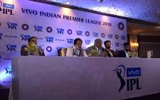 The press conference with the owners of two new vivo IPL teams has begun, in India. Picture: IPL official Facebook page.