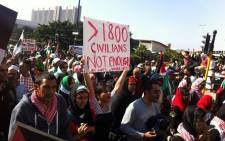 Pro-Palestinian march in Cape Town. Picture: Siyabonga Sesant/EWN.