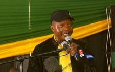 African National Congress (ANC) Mpumalanga chairperson David Mabuza at Mbombela Stadium on 1 December 2017. Picture: Screengrab