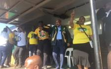 President Jacob Zuma today campaigned in Tshwane with mayoral candidate Thoko Didiza and ANC regional leaders. Picture: Clement Manyathela/EWN.