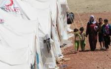 Syrian citizens in temporary camps. Picture: AFP.