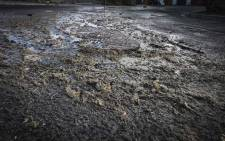 Human faeces running through the streets of Tafelsig in Mitchells Plain. Picture: Cindy Archillies/EWN