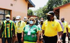 ANC President Cyril Ramaphosa visited several areas of Limpopo as part of his party's local government elections campaign. Picture: Twitter