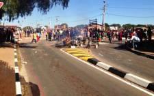 Protests near Kathrada Park on 6 October 2014. Picture: Vumani Mkhize/EWN.