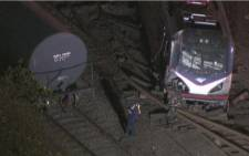 Derailed amtrak train in Philadelphia. Picture : CNN screen grab