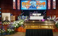 The remains of George Floyd await a memorial service in his honor on 4 June 2020, at North Central University's Frank J. Lindquist Sanctuary in Minneapolis, Minnesota. Picture: AFP