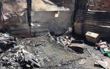 FILE: The aftermath of shack fire. Picture: Masego Rahlaga/EWN