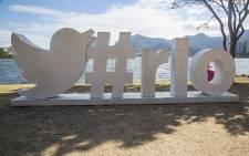 FILE: A Twitter structure erected at the Lagoa Rodrigo de Freitas in Rio de Janeiro for the 2016 Olympic Games. Picture: Reinart Toerien/EWN.
