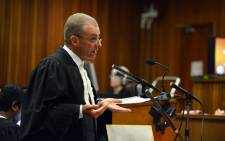 State prosecutor Gerrie Nel during the Oscar Pistorius murder trial. Picture: Pool.